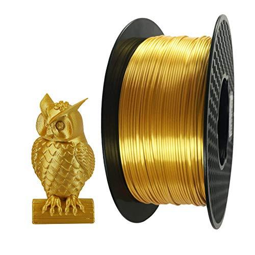 CC3D 3D Printer Filament PLA 1.75 Mm Silk Gold 1 KG (2.2